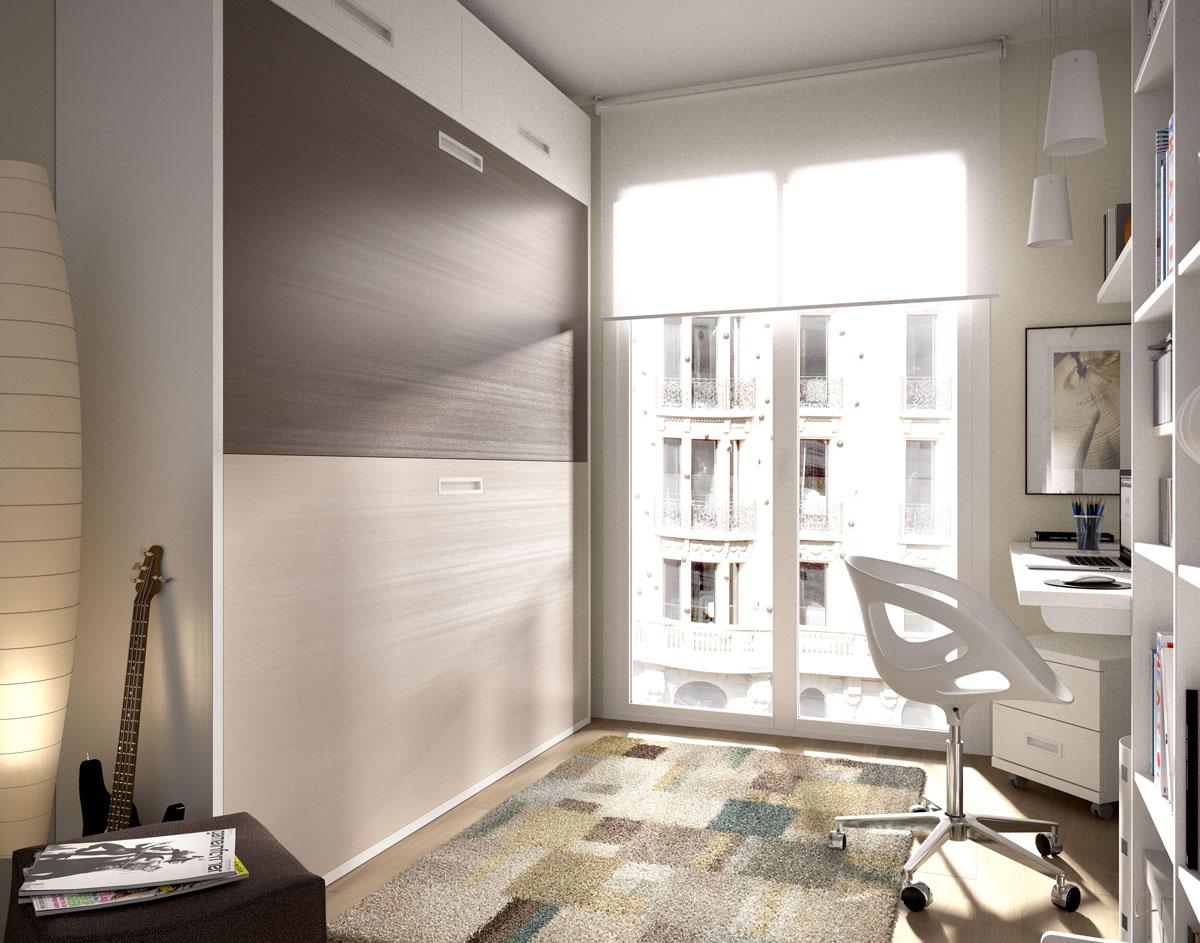 Poco espacio soluci n camas abatibles blog mobel 6000 - Camas empotradas en armario ...