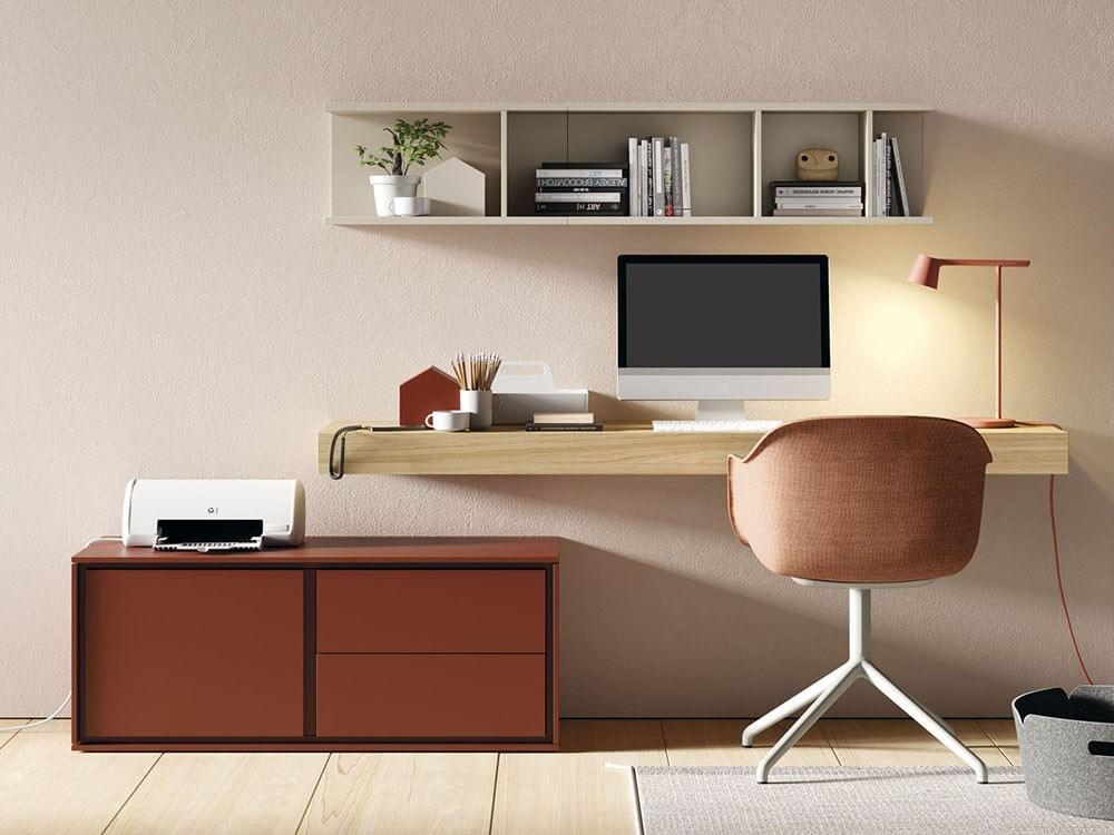 Mesa de estudio suspendida perfecta para oficina en casa