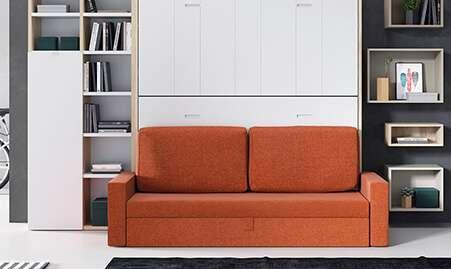 Sistema abatible con sofá